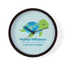 Personalized Birth Stats Tortoise Wall Clock