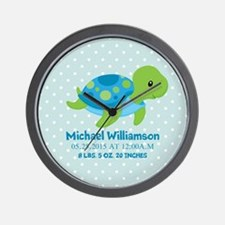 Personalized Birth Stats Tortoise Wall Clock