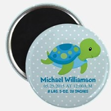 Personalized Birth Stats Tortoise Magnet
