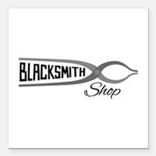 "Blacksmith Shop Square Car Magnet 3"" x 3"""