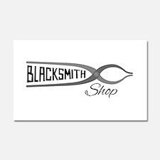 Blacksmith Shop Car Magnet 20 x 12