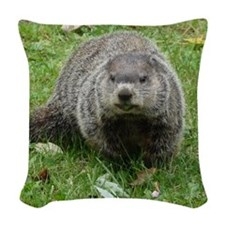 GroundHogOrn.png Woven Throw Pillow