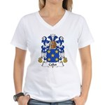Callot Family Crest Women's V-Neck T-Shirt