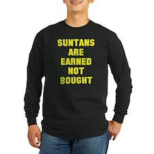 Suntans are earned T
