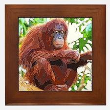Painted Orang Framed Tile