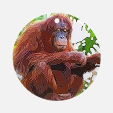 Painted Orang Round Ornament