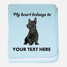 Personalized Scottish Terrier baby blanket