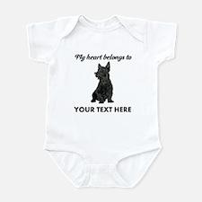 Personalized Scottish Terrier Infant Bodysuit