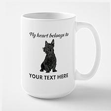 Personalized Scottish Terrier Large Mug