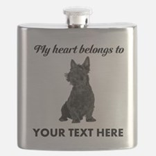 Personalized Scottish Terrier Flask