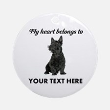Personalized Scottish Terrier Ornament (Round)