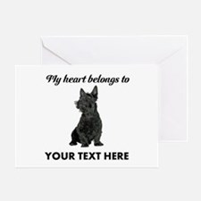 Personalized Scottish Terrier Greeting Card
