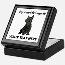 Personalized Scottish Terrier Keepsake Box
