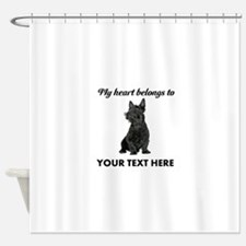 Personalized Scottish Terrier Shower Curtain