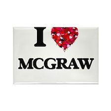 I Love Mcgraw Magnets