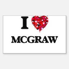 I Love Mcgraw Decal