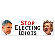 Stop Electing Idiots Bumper Car Car Sticker