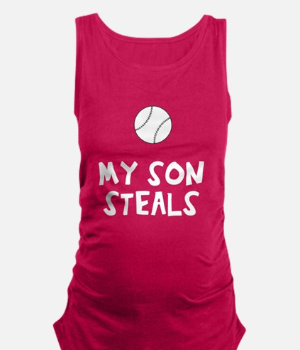 My son / daughter steals Maternity Tank Top