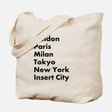 Insert City Tote Bag