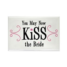 Kiss The Bride Rectangle Magnet