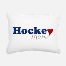 Hockey Mom with Heart Rectangular Canvas Pillow