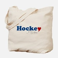 Hockey Mom with Heart Tote Bag