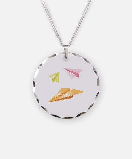 Paper Airplanes Necklace