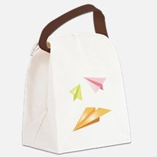 Paper Airplanes Canvas Lunch Bag