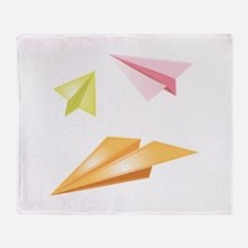 Paper Airplanes Throw Blanket