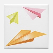 Paper Airplanes Tile Coaster