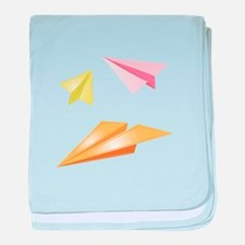 Paper Airplanes baby blanket