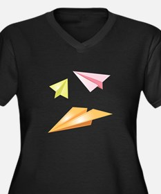 Paper Airplanes Plus Size T-Shirt