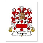 Busquet Family Crest Small Poster