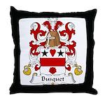 Busquet Family Crest Throw Pillow