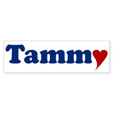 Tammy with Heart Bumper Bumper Sticker