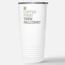 Coffee Then Falconry Travel Mug