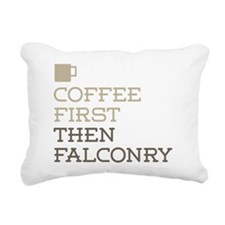 Coffee Then Falconry Rectangular Canvas Pillow