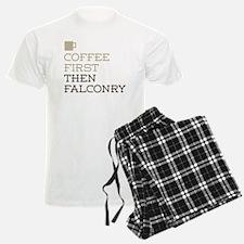 Coffee Then Falconry Pajamas