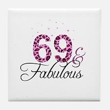 69 and Fabulous Tile Coaster