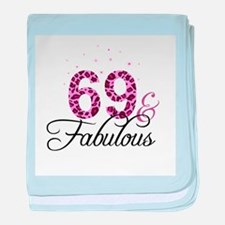 69 and Fabulous baby blanket