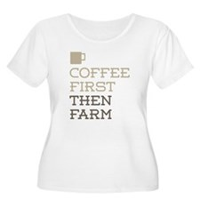 Coffee Then Farm Plus Size T-Shirt