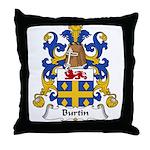 Burtin Family Crest Throw Pillow