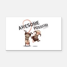 Ice Age Awesome Possum Rectangle Car Magnet