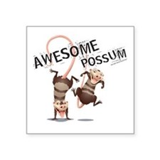 "Ice Age Awesome Possum Square Sticker 3"" x 3"""