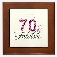 70 and Fabulous Framed Tile