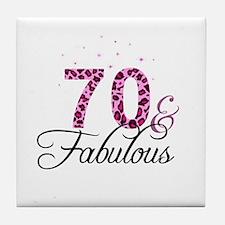 70 and Fabulous Tile Coaster