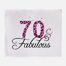 70 and Fabulous Throw Blanket