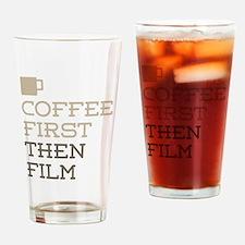 Coffee Then Film Drinking Glass