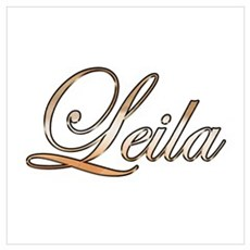 Gold Leila Poster
