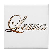 Gold Leana Tile Coaster